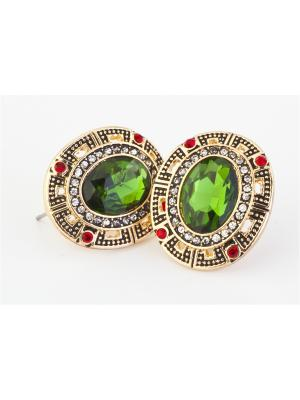 Серьги КЛЕОПАТРА BRADEX. Цвет: зеленый, бронзовый, прозрачный, темно-красный