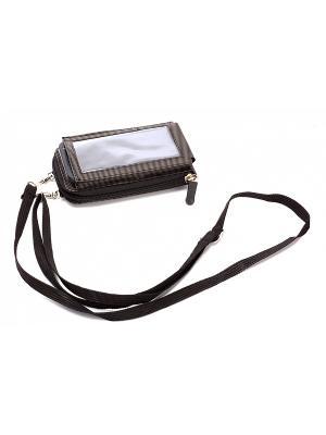 Чехол для телефона - кошелек BRADEX. Цвет: черный