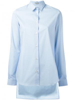 Асимметричная рубашка Aalto. Цвет: синий