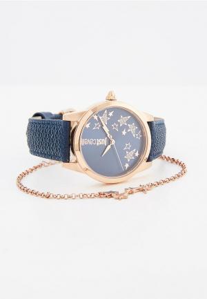 Комплект часы и браслет Just Cavalli. Цвет: синий