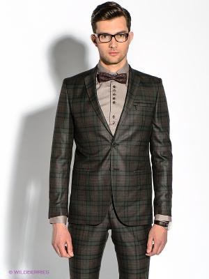Пиджак Alex DANDY. Цвет: темно-коричневый
