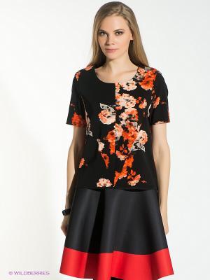 Блузка Vero moda. Цвет: черный, рыжий