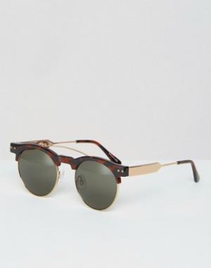 Spitfire Солнцезащитные очки в стиле ретро. Цвет: коричневый