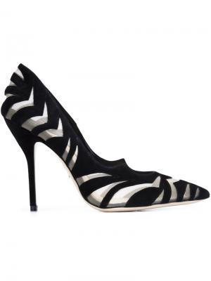 Туфли-лодочки Zenadia Paul Andrew. Цвет: чёрный