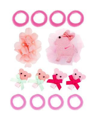 Набор аксессуаров детский LITTLE MANIA. Цвет: бирюзовый, розовый, фуксия