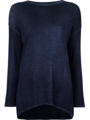 Вязаная блузка Avant Toi. Цвет: синий