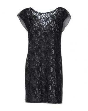 Короткое платье GARAGE NOUVEAU. Цвет: свинцово-серый