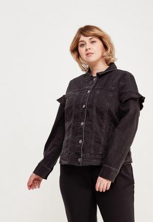 Куртка джинсовая Junarose. Цвет: черный