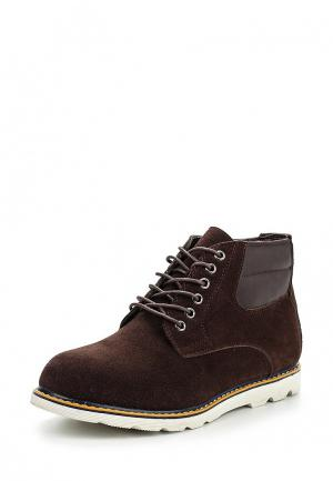 Ботинки oodji. Цвет: коричневый