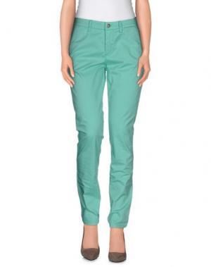 Повседневные брюки UP ★ JEANS. Цвет: бирюзовый