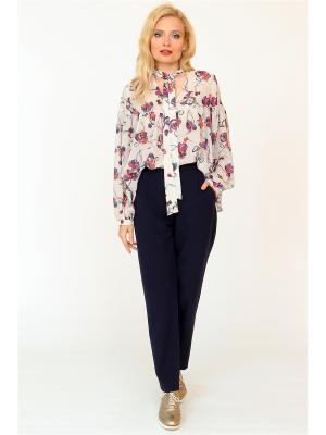 Блузка MARI VERA. Цвет: молочный