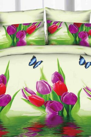 Постельное белье 2 сп. Сатин Французский стиль. Цвет: мультиколор