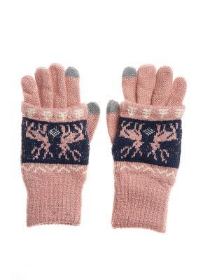 Перчатки - митенки Bijoux Land. Цвет: розовый, синий