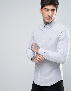 Farah Серая оксфордская рубашка скинни эксклюзивно для. Цвет: серый