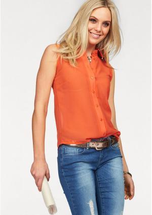 Блузка MELROSE. Цвет: оранжевый
