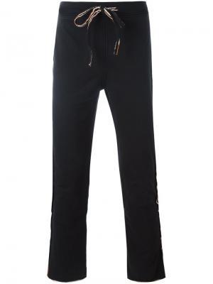 Спортивные брюки с необработанными краями Telfar. Цвет: чёрный