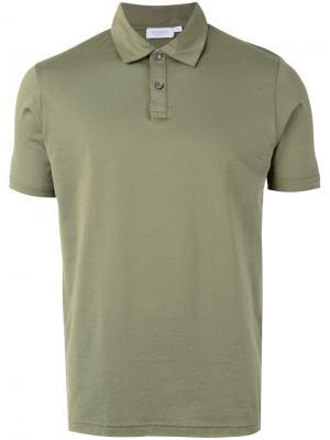Рубашка-поло с короткими рукавами Sunspel. Цвет: зелёный