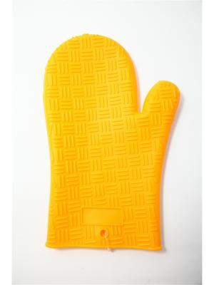 Варежка-прихватка силиконовая термостойкая. Vetta. Цвет: желтый