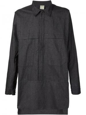Полосатая рубашка Morion Jan Van Essche. Цвет: чёрный