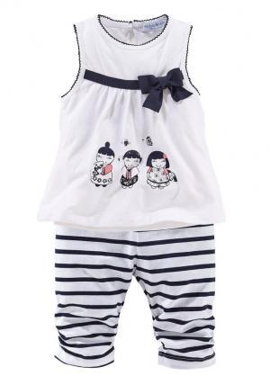 Маленькое платье и леггинсы для детей (комплект из 2 шт) Otto. Цвет: белый