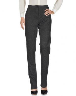 Повседневные брюки DONNA GI. Цвет: свинцово-серый