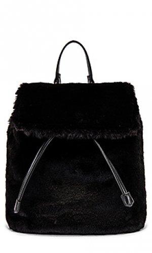 Меховой рюкзак fi Lovers + Friends. Цвет: черный