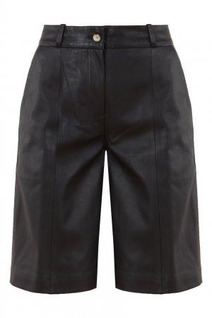 Черные кожаные шорты Kiltan LouLou Studio. Цвет: черный
