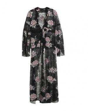 Легкое пальто ANNA SUI. Цвет: черный