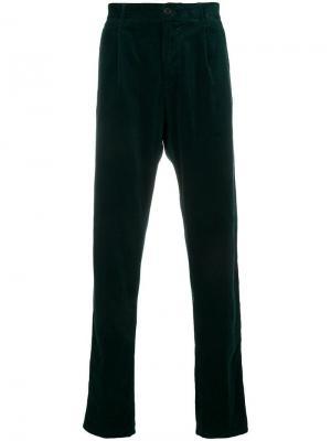 Прямые брюки Aspesi. Цвет: зеленый
