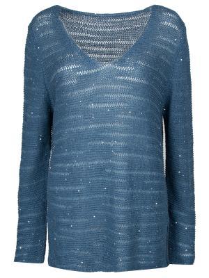 Пуловер с декором Le Tricot Perugia. Цвет: синий