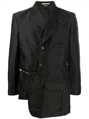 Блейзер асимметричного кроя Comme Des Garçons Homme Plus. Цвет: черный