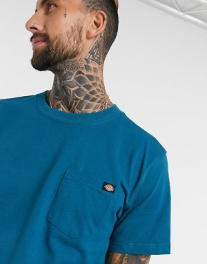 Синяя футболка с карманом Dickes Porterdale-Голубой Dickies