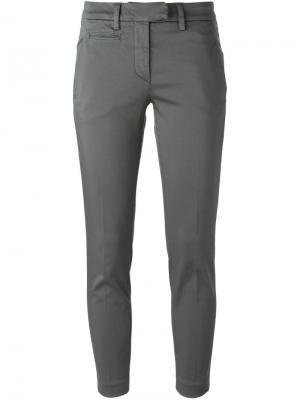 Укороченные брюки-чинос Dondup. Цвет: серый