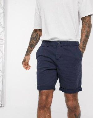 Узкие шорты чиносы essentials-Темно-синий Jack & Jones