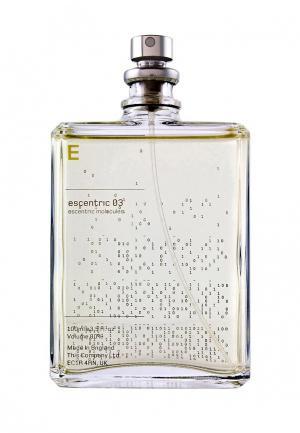 Туалетная вода Escentric Molecules 03 100 мл. Цвет: прозрачный