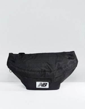 Черная сумка-кошелек на пояс NB500190-001 New Balance. Цвет: черный