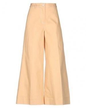Джинсовые брюки ELIZABETH AND JAMES. Цвет: абрикосовый