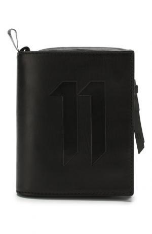 Кожаное портмоне с отделениями для кредитных карт 11 by Boris Bidjan Saberi. Цвет: черный