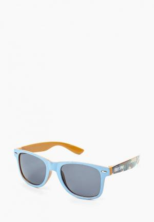 Очки солнцезащитные True Spin. Цвет: голубой