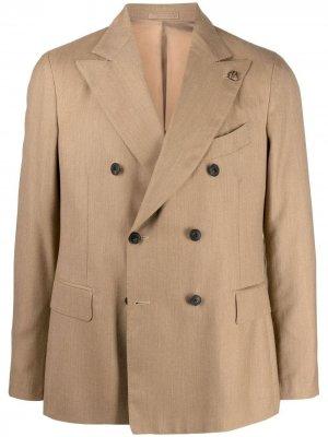 Двубортный кашемировый пиджак Gabriele Pasini. Цвет: нейтральные цвета