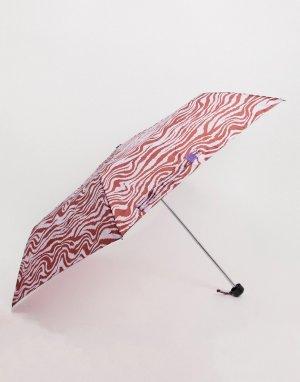 Фиолетовый зонт с принтом зебра Monki
