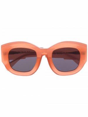 Солнцезащитные очки B5 в оправе кошачий глаз Kuboraum. Цвет: оранжевый