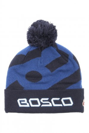 Синяя шапка с аппликацией Bosco. Цвет: синий