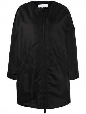 Куртка на молнии GANNI. Цвет: черный