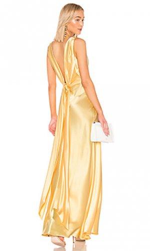Вечернее платье JILL STUART. Цвет: лимонный