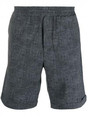 Меланжевые шорты-бермуды Hydrogen. Цвет: серый