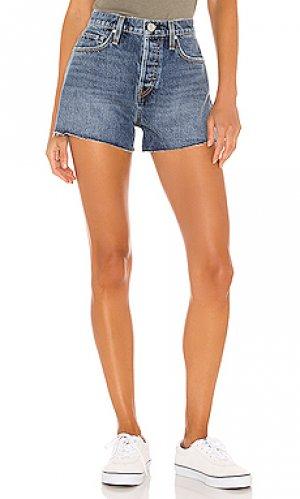 Джинсовые шорты cara Hudson Jeans. Цвет: none