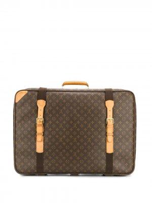 Чемодан с монограммой Louis Vuitton. Цвет: коричневый