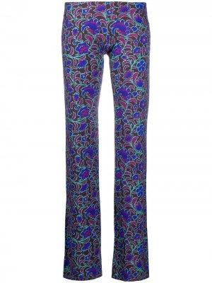 Широкие брюки Funi с цветочным принтом Fisico. Цвет: коричневый