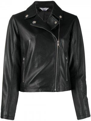 Байкерская куртка на молнии LIU JO. Цвет: черный